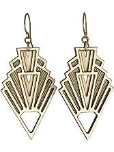 VISION | art deco wood earrings