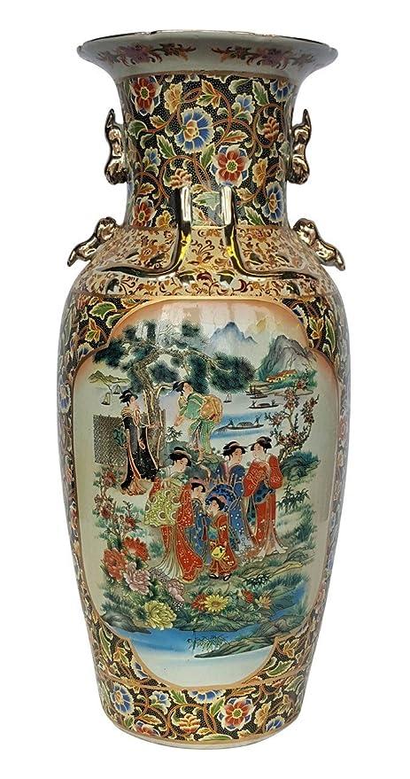 Amazon 24 Chinese Porcelain Vase In Japanese Satsuma Style