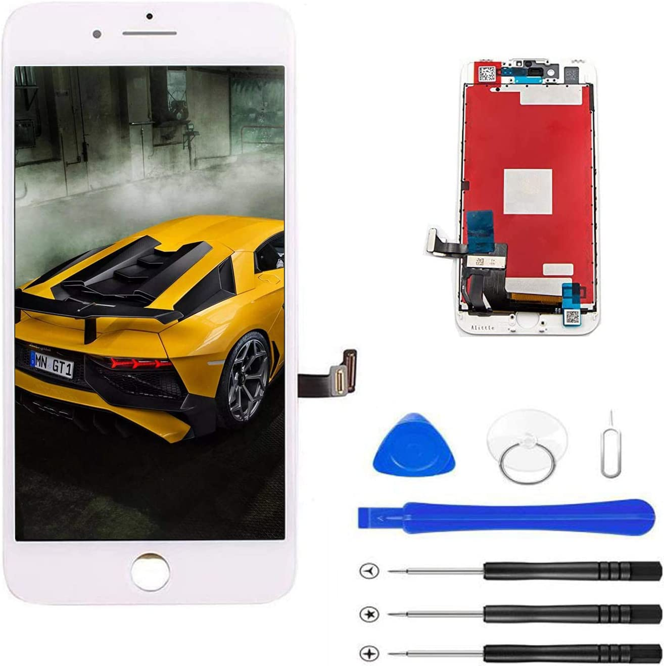Magic Tech for iPhone 7 Screen Replacement (4.7inch White), LCD Digitizer Touch Screen Assembly Set with 3D Touch, Repair Tools and Professional Replacement Video Included (White)