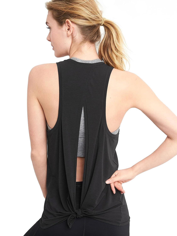 6133b46b078 Bestisun Women's Cute Yoga Tank Top Tie Back Activewear Workout Shirt at  Amazon Women's Clothing store: