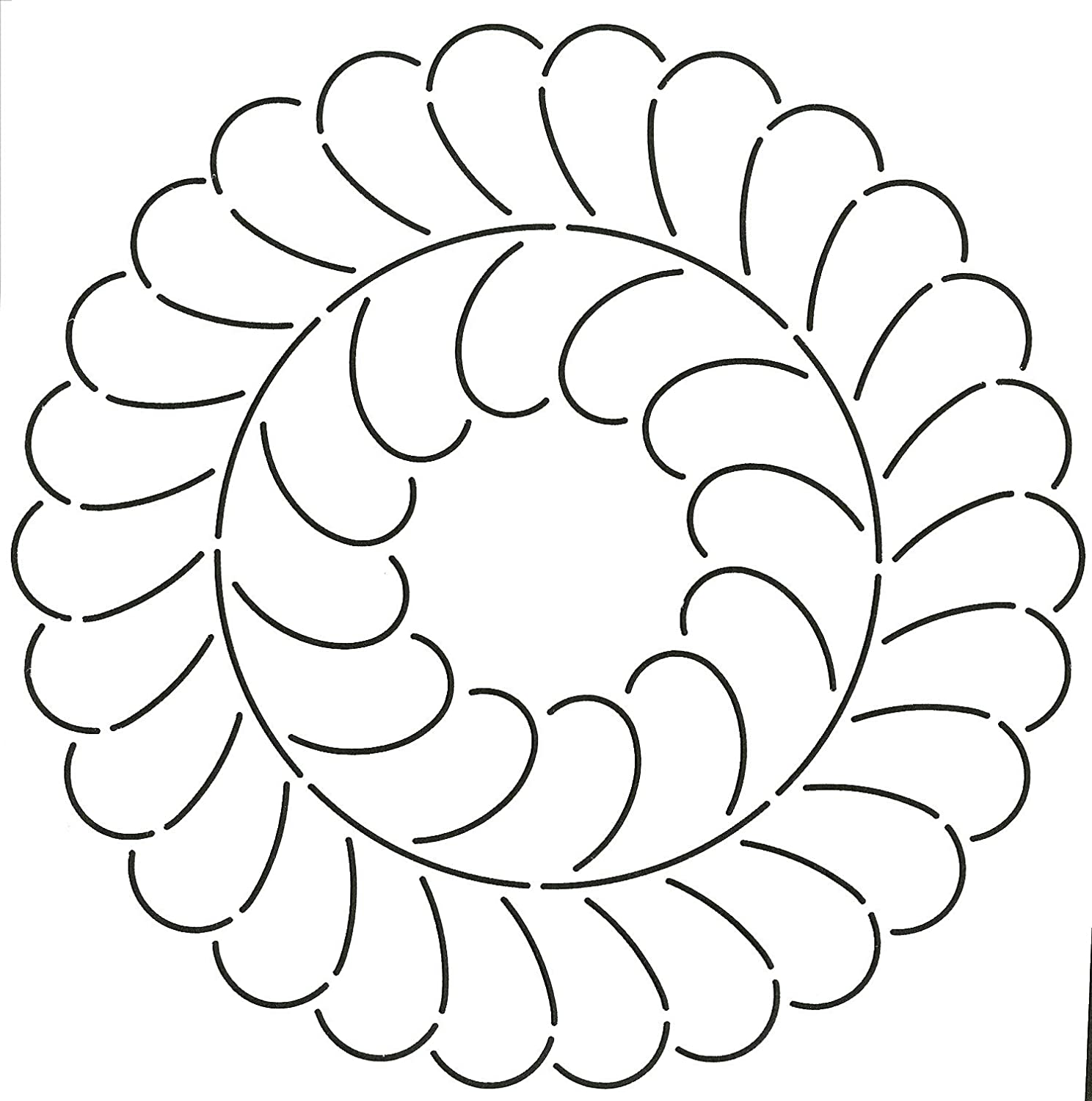 Quilting Creations Feather Circle Quilt Stencil