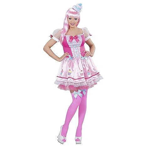 43e63f57309e5 WIDMANN Disfraz de Cupcake Rosa Mujer - S  Amazon.es  Juguetes y juegos