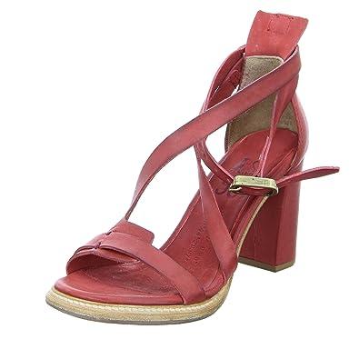 sale retailer 2f5b6 6954d A.S.98 Damen Sandalette 589004 Blockabsatz Leder Rot: Amazon ...