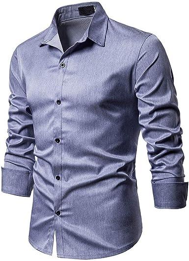 Sylar Camisa Hombre Manga Larga Casual Camisa De Estampado Original Camisa De Vestir para Hombre Camisa A Rayas para Hombre Tops Blusa Hombre Blanca Otoño Casual Formal Slim Button-Down Cuadros: Amazon.es: Ropa