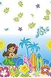 "Hula Girl Luau Party Plastic Tablecloth, 84"" x 54"""