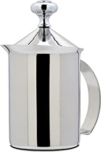 Bellemain-Stainless-Steel-Hand-Pump-Milk-Frother,-14-oz.-capacity
