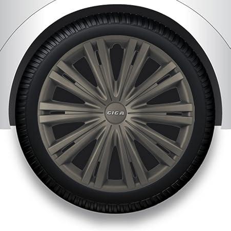 Zentimex Radzierblenden Radkappen Radabdeckung 16 Zoll 16 Grau Abs Auto