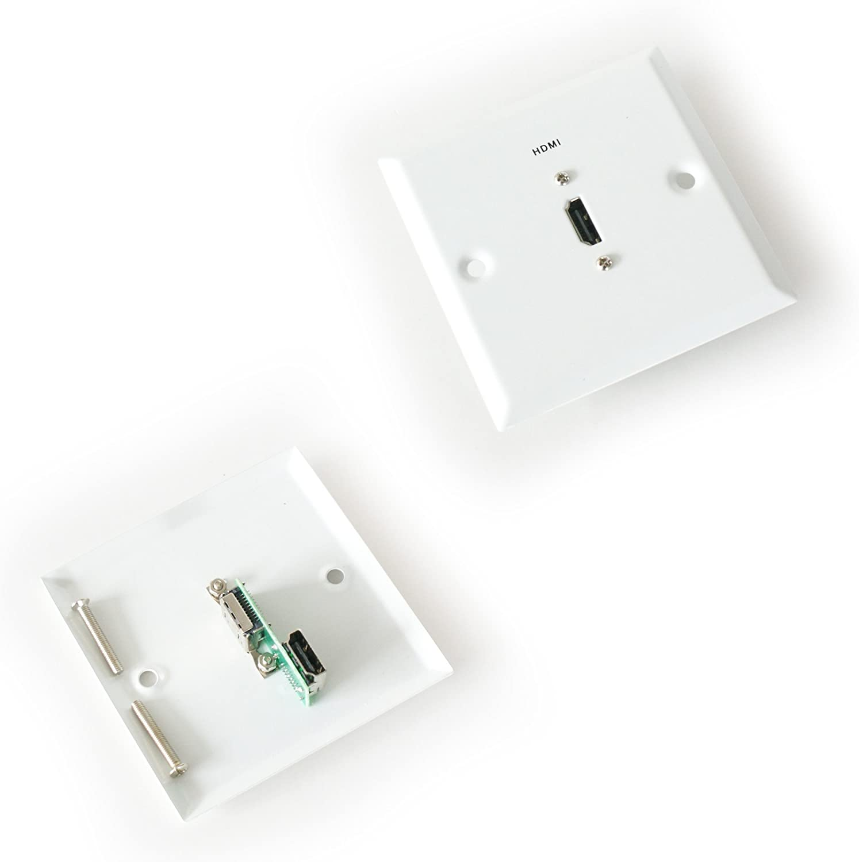 HDMI Hembra – Enchufe de Pared Placa Frontal – sin Soldadura: Amazon.es: Electrónica