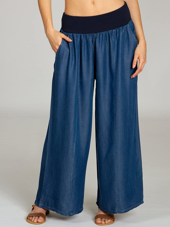 26eb57761918 CASPAR KHS046 lässig leichte Damen Sommer Culotte Jeanshose  Amazon.de   Bekleidung