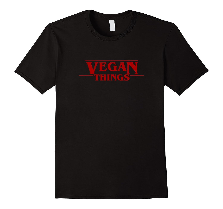Mens Vegan Things Tshirt Black-Teeae
