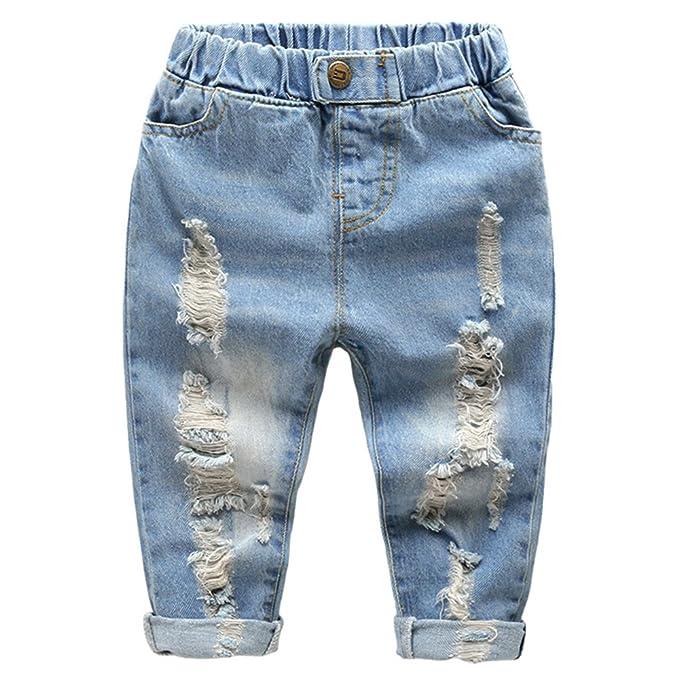 Amazon.com: Baby Boy bebé moda de niños pantalones Jeans ...