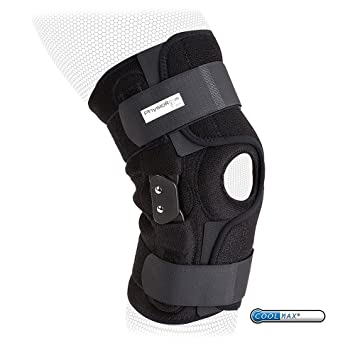 c12222c954 PhysioRoom Elite Hinged Knee Brace - Support Rehabilitation Adjustable Small