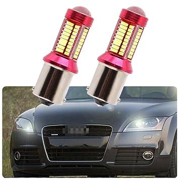 FEZZ Bombillas LED Coche Luz Diurna DRL S25 BA15S 1156 4014 78SMD CANBUS: Amazon.es: Coche y moto