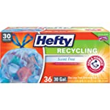 Hefty Recycling Trash Bags (Blue, Drawstring, 30 Gallon, 36 Count)