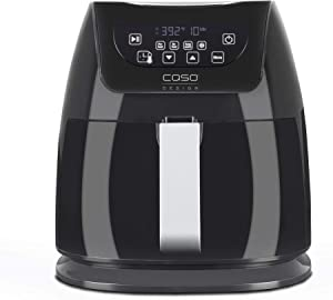 Caso Design AF 350 Fat-Free Convection Air Fryer with Barbecue Accessories - Large Hot Air Deep Fryer Holds 3.2 Quarts of Food, 13179, small