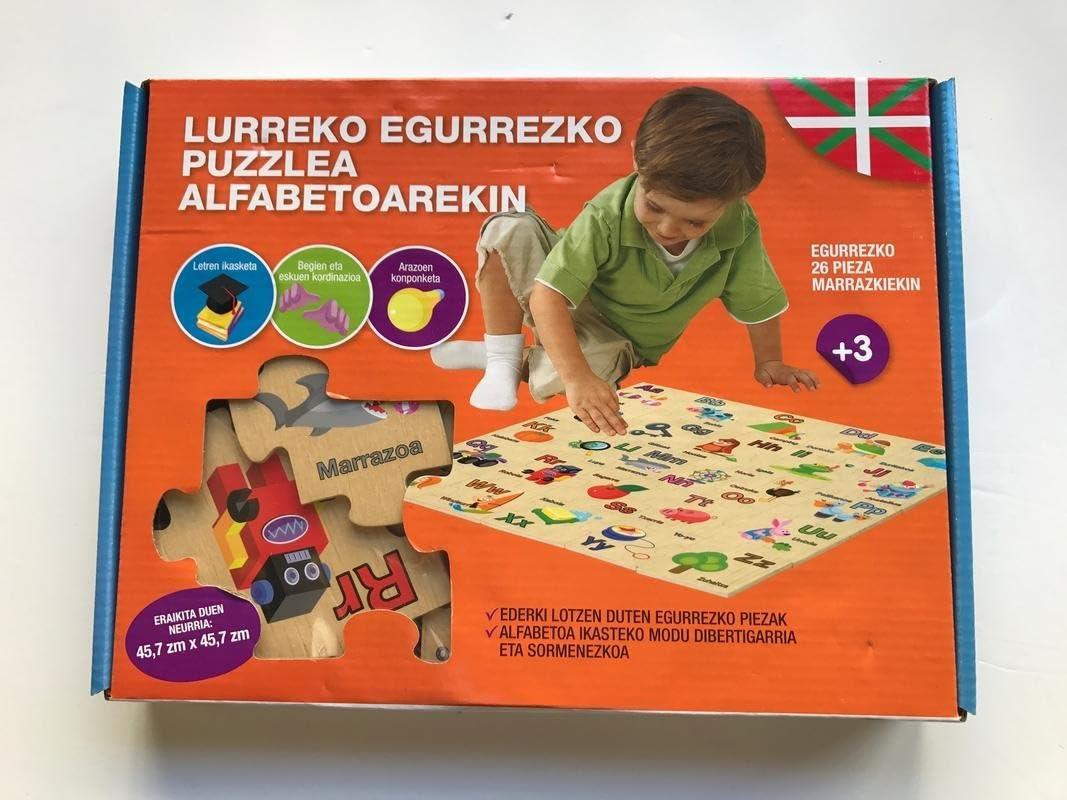 Mundua - Puzzle MADera Alfabeto En Euskera