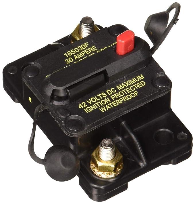 Bussmann CB185-30 30 Type Iii Flush Mount Switchable/Manual High Amp Circuit Breaker, 30Vdc, One Per Box (1-Pack)