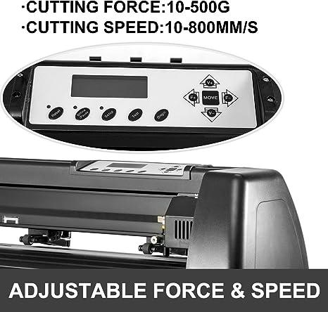 VEVOR Máquina Cortadora de Vinilo de 1,350 mm, Plotter de Corte de Vinilo con Control Digital, Vinilo Cortador Letrero, Corte Plotter Impresora Sublimación, Plotter de Impresión: Amazon.es: Electrónica