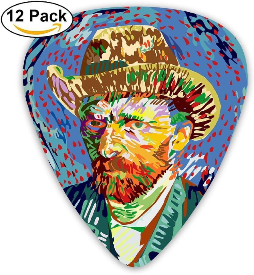 Vincent Van Gogh.png - Accesorios para guitarra (12 piezas, 3 ...