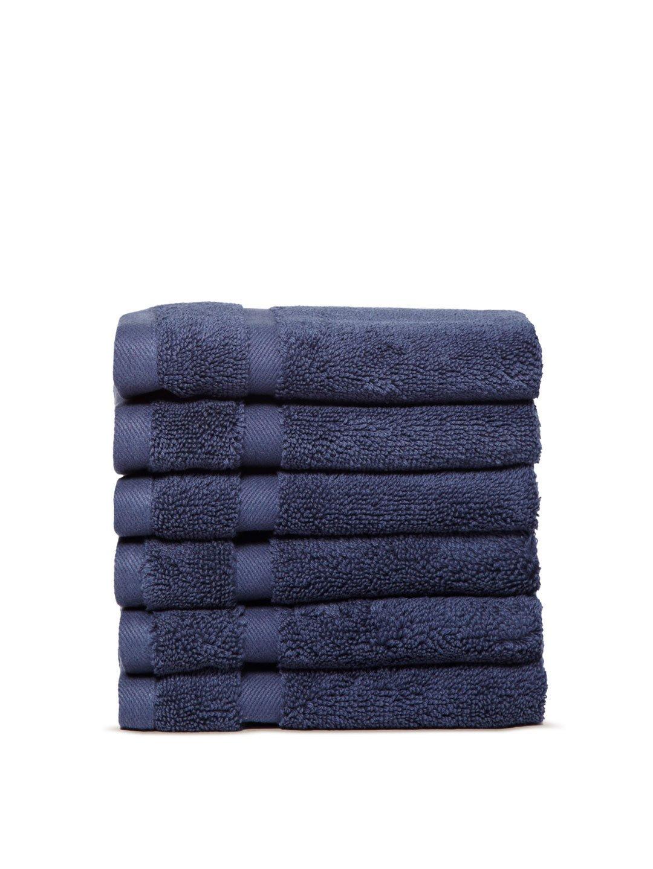 Chortex Irvington %100 Turkish Cotton Washcloth, Set of 6 (Navy)