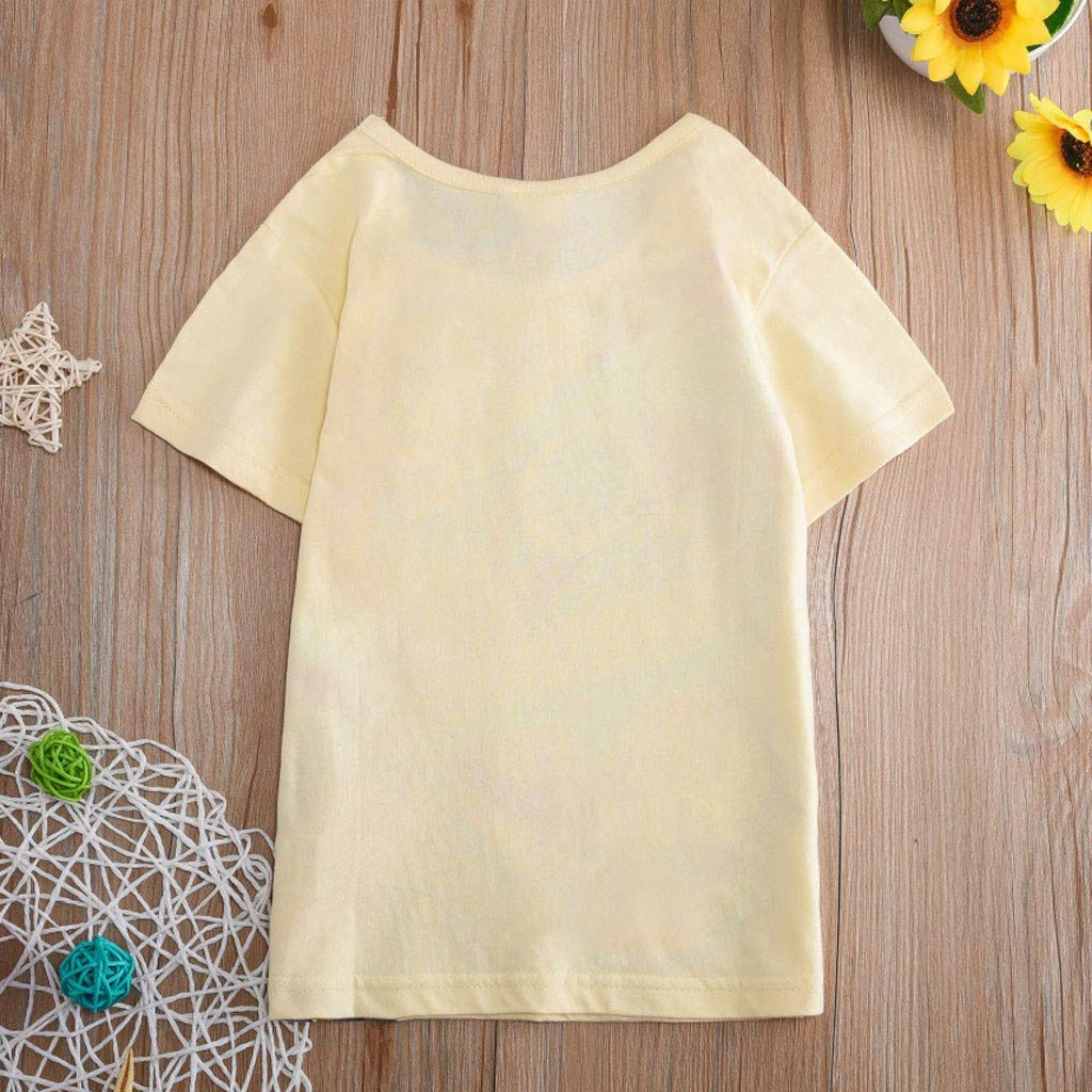 Toddler Kids Baby Boys Girls Clothes Short Sleeve Cartoon Tops T-Shirt Blouse