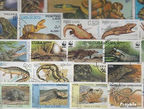 Prophila Collection Motivos 200 Diferentes Reptiles y Anfibios Sellos (Sellos para los coleccionistas) Anfibios / Reptiles / Dinosaurio: Amazon.es: Juguetes y juegos