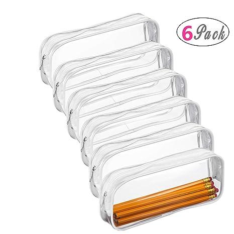 Amazon.com: Estuche transparente de PVC para lápices con ...