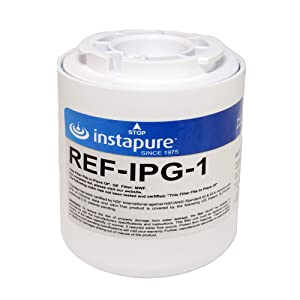 Instapure REF-IPG-1 ULTRA Refrigerator Filter, MADE IN USA, Compatible with GE MWF, GE MWFA, GE GWF06, and more, Tested & Certified by NSF to ANSI/NSF 42 and 53