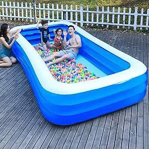 ZDW Rsein 1,45 M / 1. 8M / 2,1 M / 2,6 M / 3,15 m / 3,68 m / 3,88 m / 4,28 M piscina inflable para adultos Piscina para niños Bañera al aire libre Piscina cubierta, 145 * 108 * 47cm,315 * 187 * 65cm: Amazon.es: Bricolaje y herramientas