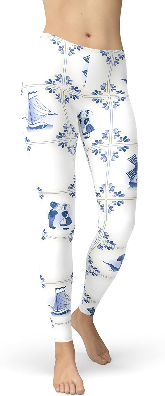 Queen of Cases Delft Blue Holland Pottery Kids Leggings