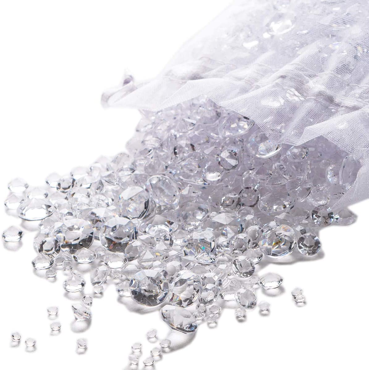 800pcs Clear Acrylic Diamond For Wedding Party Table Scatter Fish Tank Decor