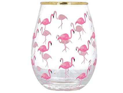Creative Tops AVA y I Flamingo Decorada sin Tallo Copa de ...