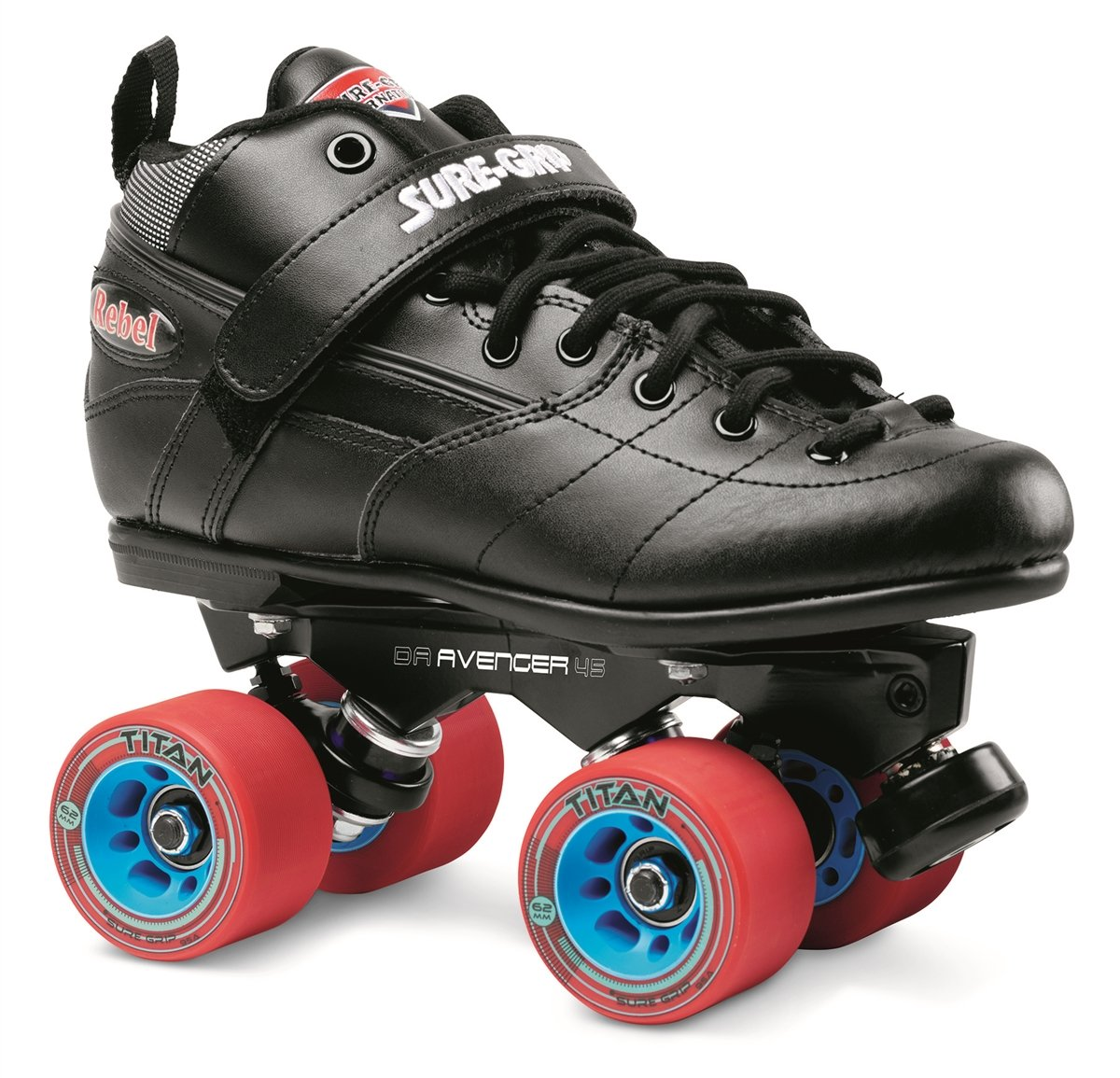 Sure-Grip Rebel Avenger Skate Package - black sz Mens 10/Ladies 11 by Sure-Grip