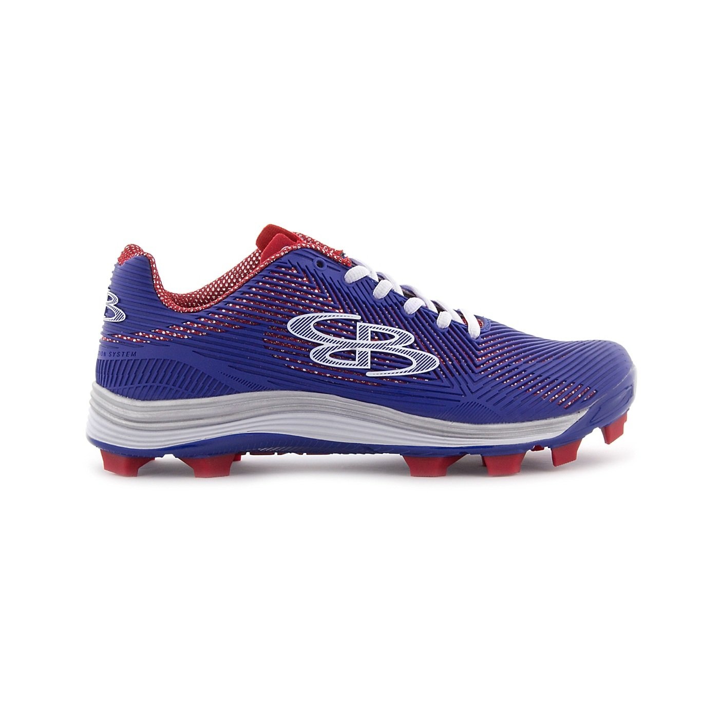 Boombah Women's Spotlight Molded Cleat Royal Blue/Red - Size 11.5 by Boombah