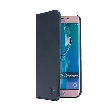 32nd Classic Series - Funda Tipo Libro de Piel Real para Samsung Galaxy S6 Edge Plus, Carcasa de Cuero Premium diseñada con Cartera, Cierre Magnetico ...