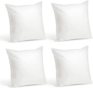 "product image for Foamily Set of 4 - 20 x 20 Premium Hypoallergenic Stuffer Pillow Inserts Sham Square Form Polyester, 20"" L X 20"" W, Standard / White"