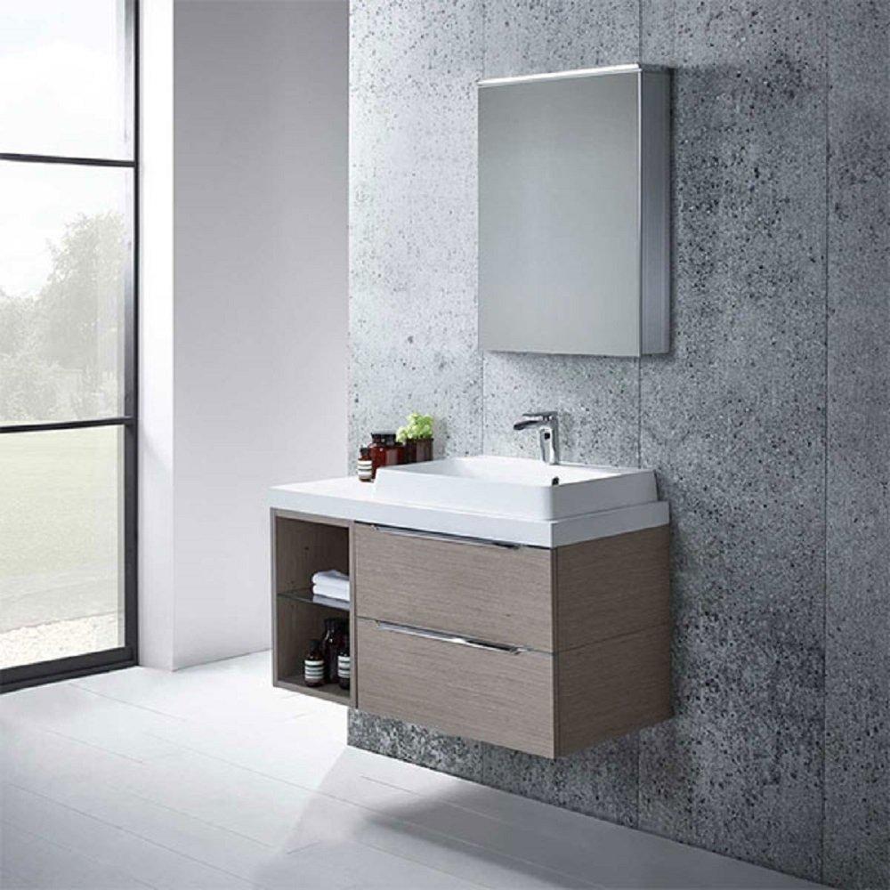Tavistock Dynamic Bathroom Illuminated LED Aluminium Single Door ...