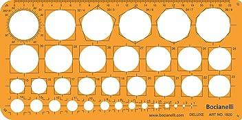 Metric Circle Circles Shapes Figure Symbols Drawing Drafting Template Stencil