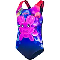 Speedo Shimmer Bounce Essential Applique Intero, Costume da Bagno Bambina