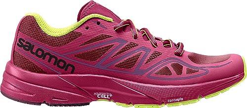 Salomon Sonic Aero W, Zapatillas de Trail Running para Mujer, Rojo (Tibetan Red/Sangria/Lime Punch), 36 EU: Amazon.es: Zapatos y complementos