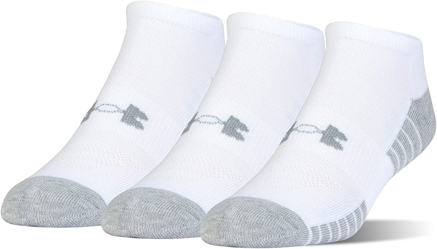 Under Armour unisex-adult Heatgear Tech No Show Socks, 3-pairs