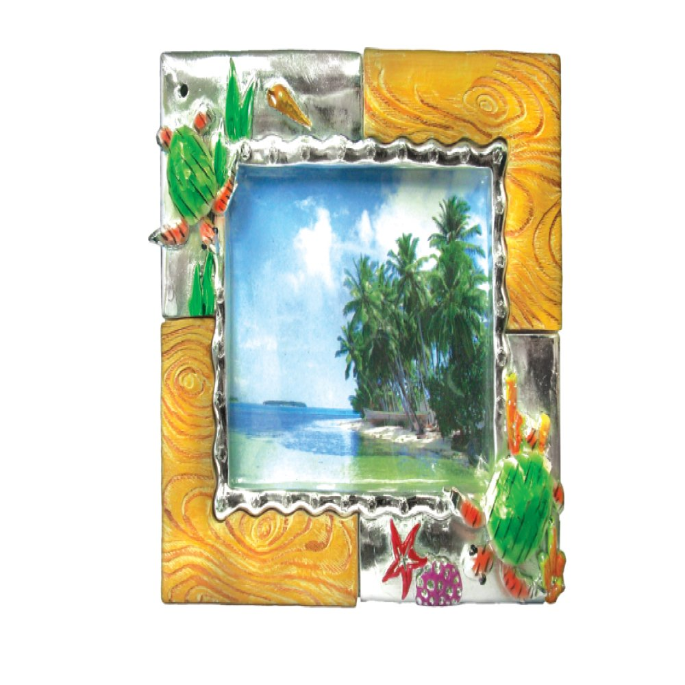 Picture Frame Dolphins Tropical Animals 8'' x 10'' Photo Frame Holds a 4'' x 6'' Print (Dolphins)