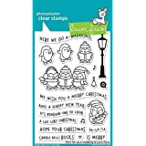 "LAWN FAWN Clear Stamps 4""X6"" Here We Go A-Waddling (LF1468)"
