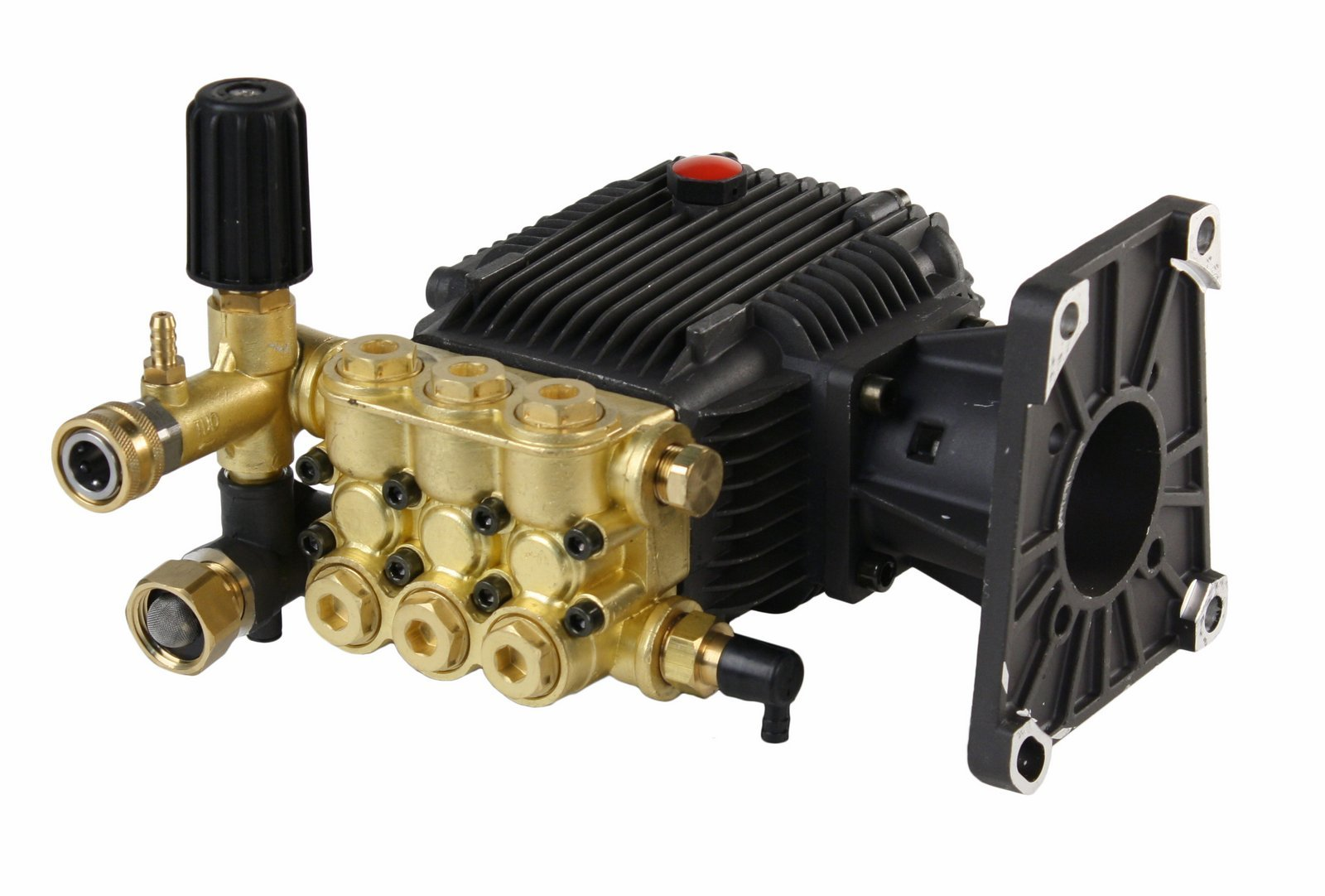 EOPE Triplex High Pressure Power Washer Pump 4.7 GPM 3600 PSI 1'' Hollow Shaft fits Cat General AR
