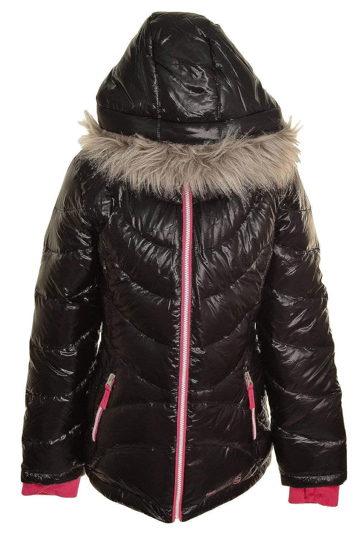 Free Country Girls Supersoft Lightweight Winter Fur Hood Down Jacket K-1