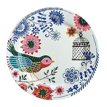 YUWANW Apenada Vintage | país francés vajilla de cerámica Carrefour espíritu pájaro Decorativo Placa de hogar