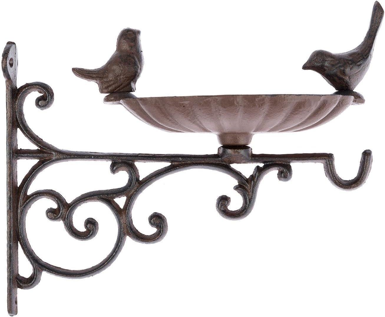 Fallen Fruits Cast Iron Hanging Basket Bird Design Hook