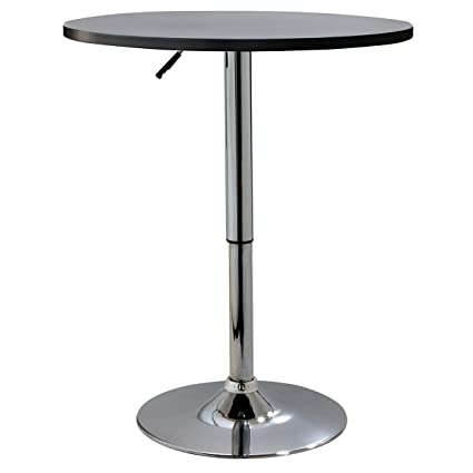 AmeriHome BTABLEW Classic Wood Top Bistro Table Round