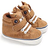 Isbasic Unisex Baby Canvas High-Tops Sneakers Toddler Soft Sole Cartoon First Walkers Shoes