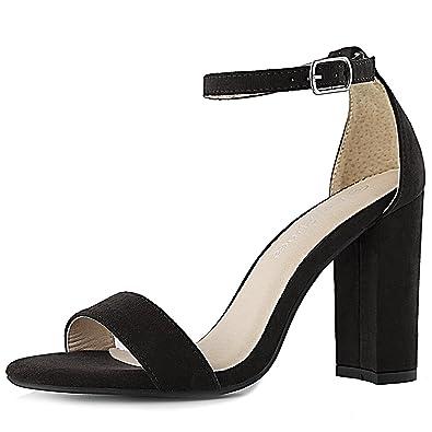Amazon.com   DailyShoes Women's Women's Chunky Heel Sandal Open ...